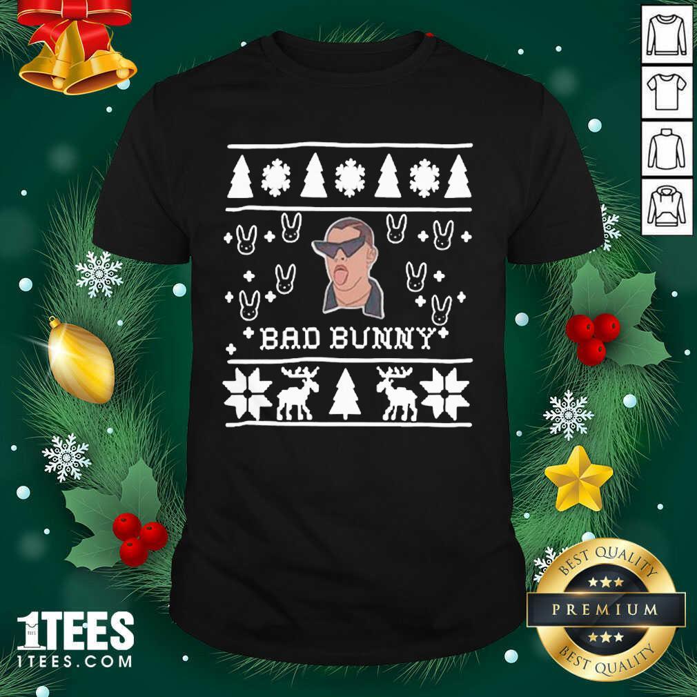 Bad Bunny Ugly Merry Christmas Shirt- Design By 1Tees.com