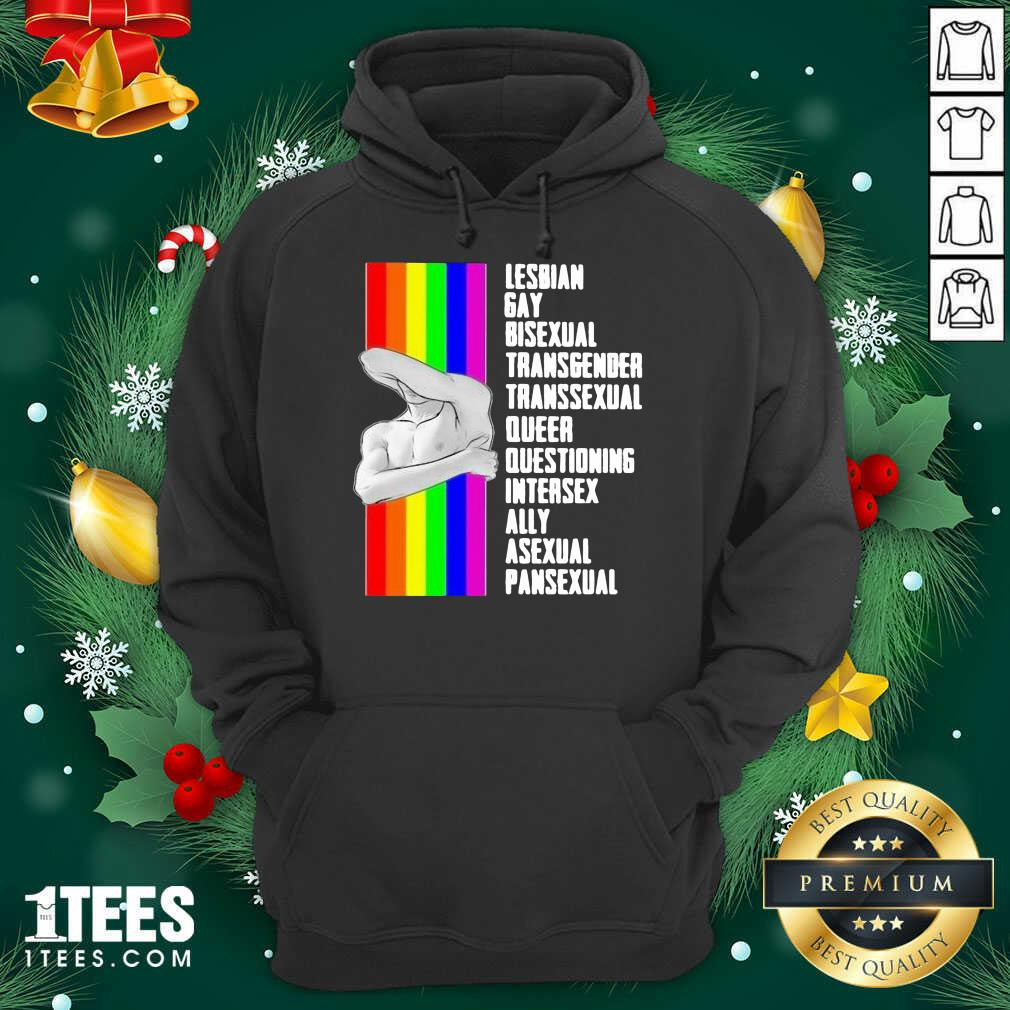 Lesbian Gay Bisexual Transgender Transsexual Queer Questioning Intersex Ally Asexual Pansexual LGBT Hoodie- Design By 1tees.com