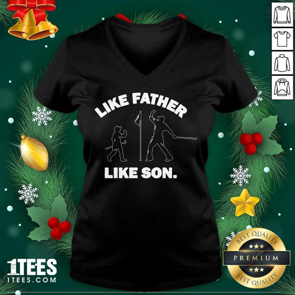 Like Father Like Son V-neck- Design By 1tees.com