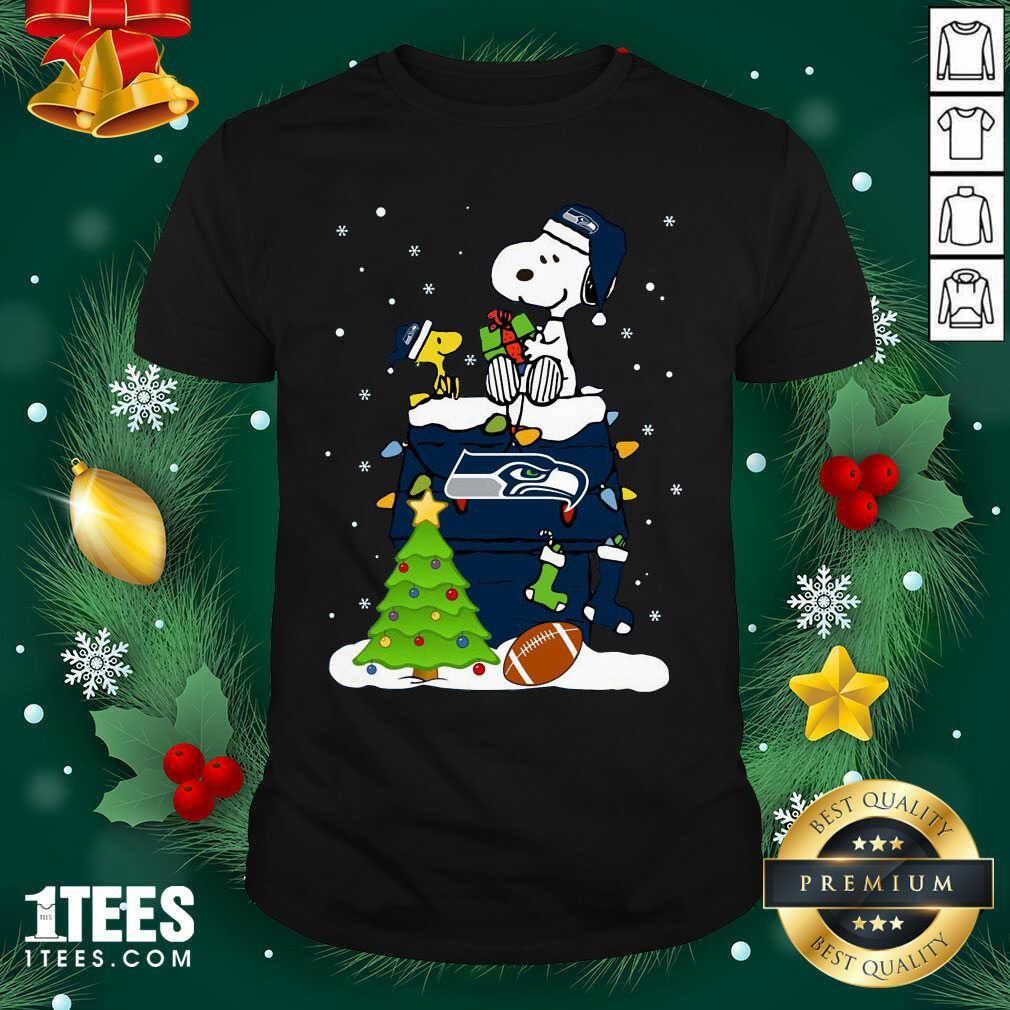 Snoopy Merry Christmas Nfl Seahawks Unisex Shirt- Design By 1Tees.com