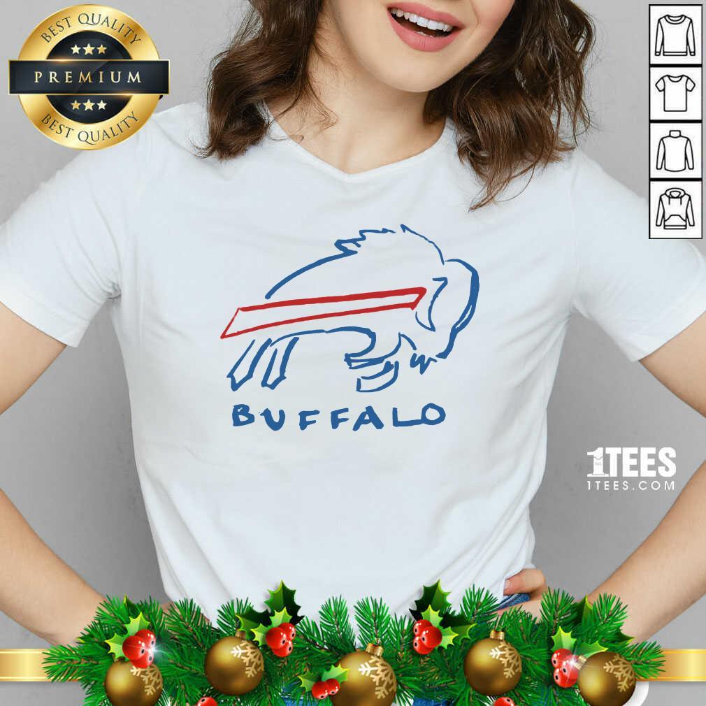 Buffalo Bills V-neck- Design By 1Tees.com