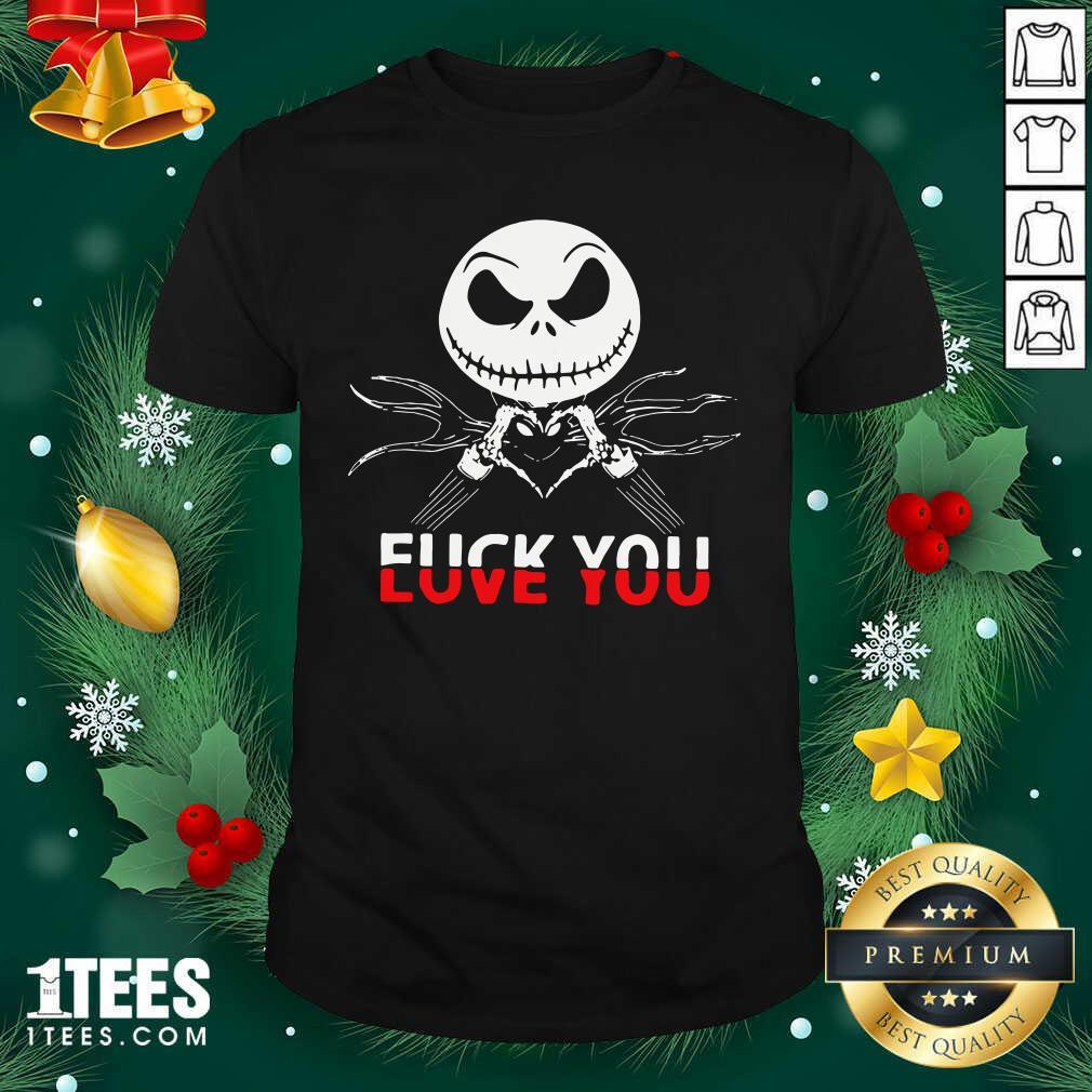 Jack Skeleton Fuck You Shirt- Design By 1tees.com