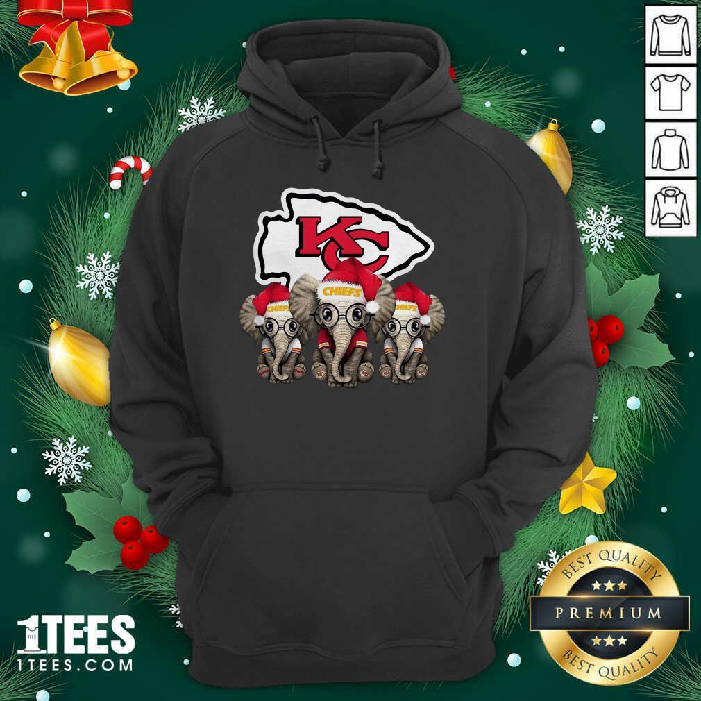 Kansas City Chiefs Elephant Christmas Hoodie- Design By 1Tees.com