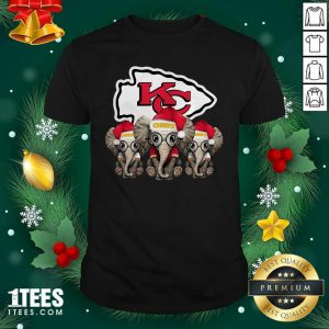 Kansas City Chiefs Elephant Christmas Shirt- Design By 1Tees.com