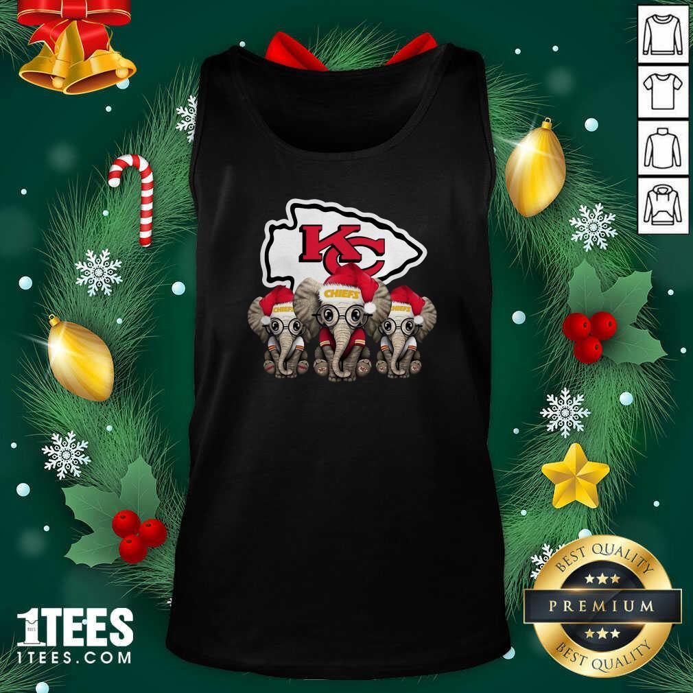 Kansas City Chiefs Elephant Christmas Tank Top- Design By 1Tees.com
