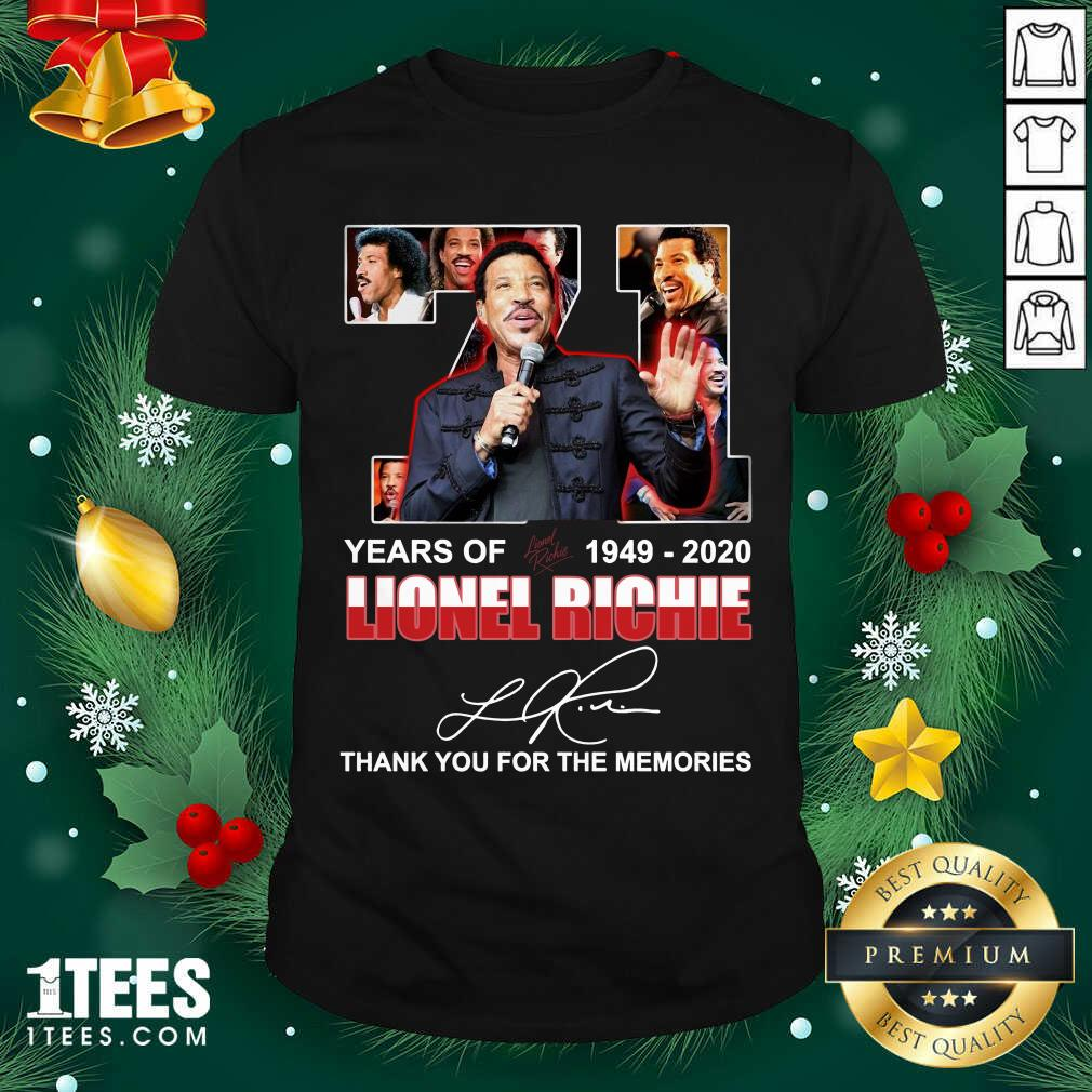 Lionel Richie 71 Years Of 1949 2020 Thank You For The Memories Signature Shirt- Design By 1tees.com