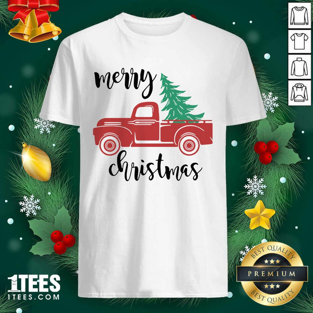 Merry Christmas Truck Christmas Shirt- Design By 1tees.com