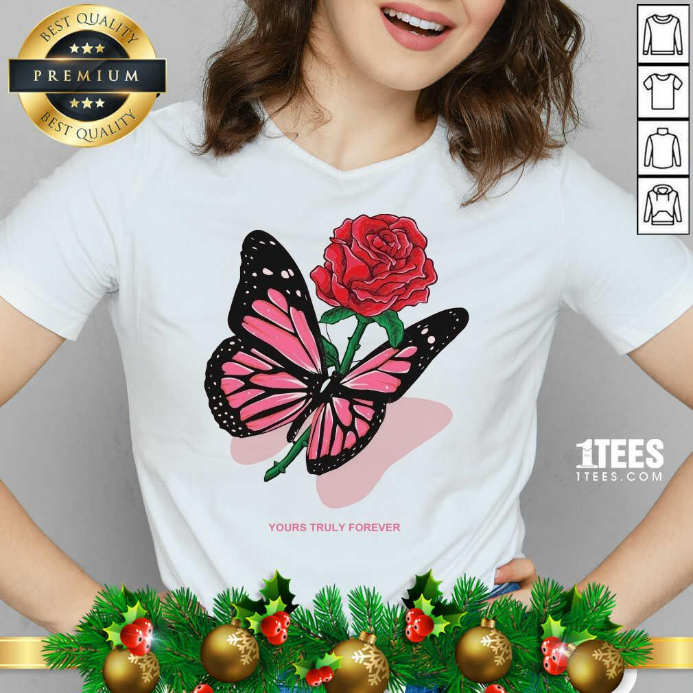 Phora Merch Butterfly Love Song Pink V-neck- Design By 1tees.com