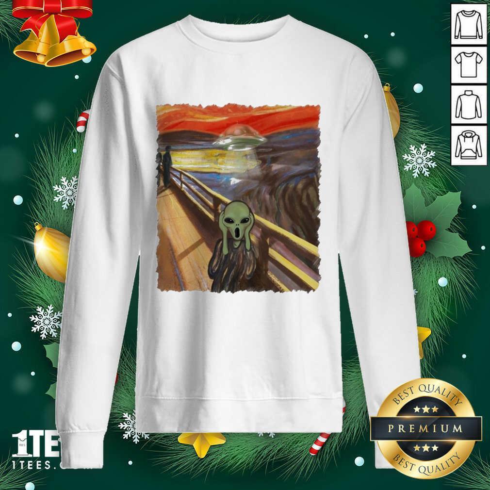Premium Van Gogh Alien Sweatshirt- Design By 1Tees.com