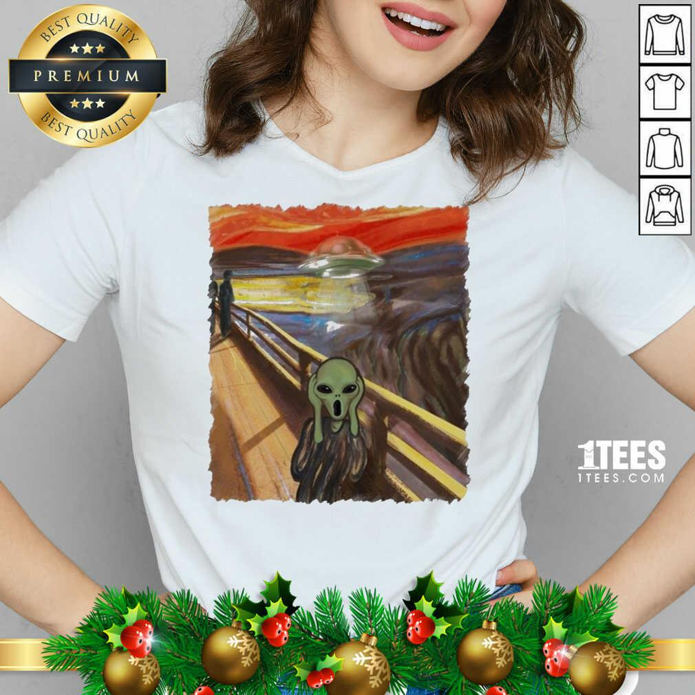Premium Van Gogh Alien Shirt- Design By 1Tees.com