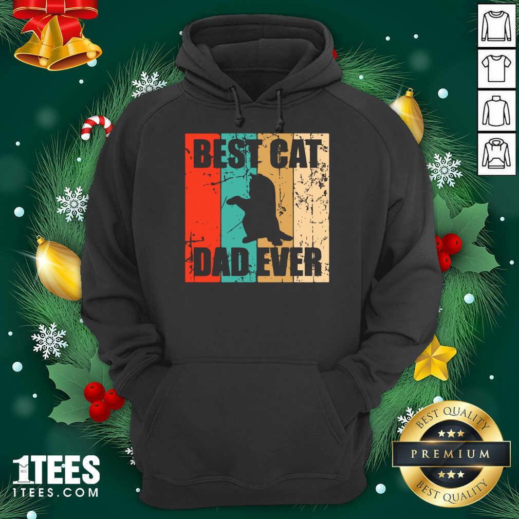 Best Cat Dad Ever Vintage Hoodie- Design By 1Tees.com