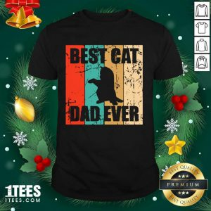 Best Cat Dad Ever Vintage Shirt- Design By 1Tees.com