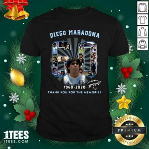 Diego Maradona 60 Years 1960 2020 Thank You For The Memories Shirt- Design By 1Tees.com