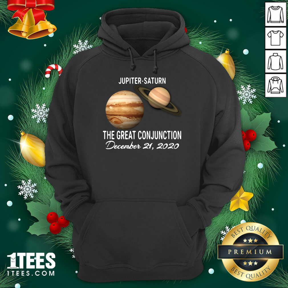 Jupiter Saturn The Great Conjunction December 21 2020 Hoodie- Design By 1tees.com