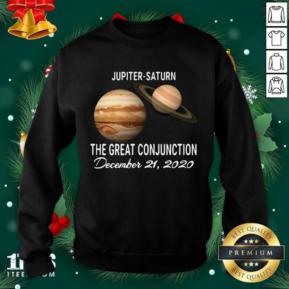 Jupiter Saturn The Great Conjunction December 21 2020 Sweatshirt- Design By 1tees.com