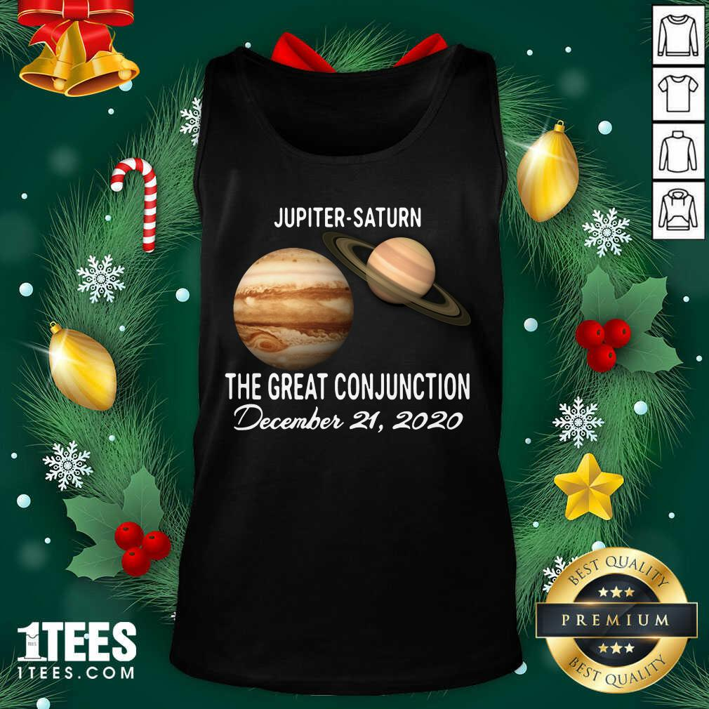 Jupiter Saturn The Great Conjunction December 21 2020 Tank Top- Design By 1tees.com