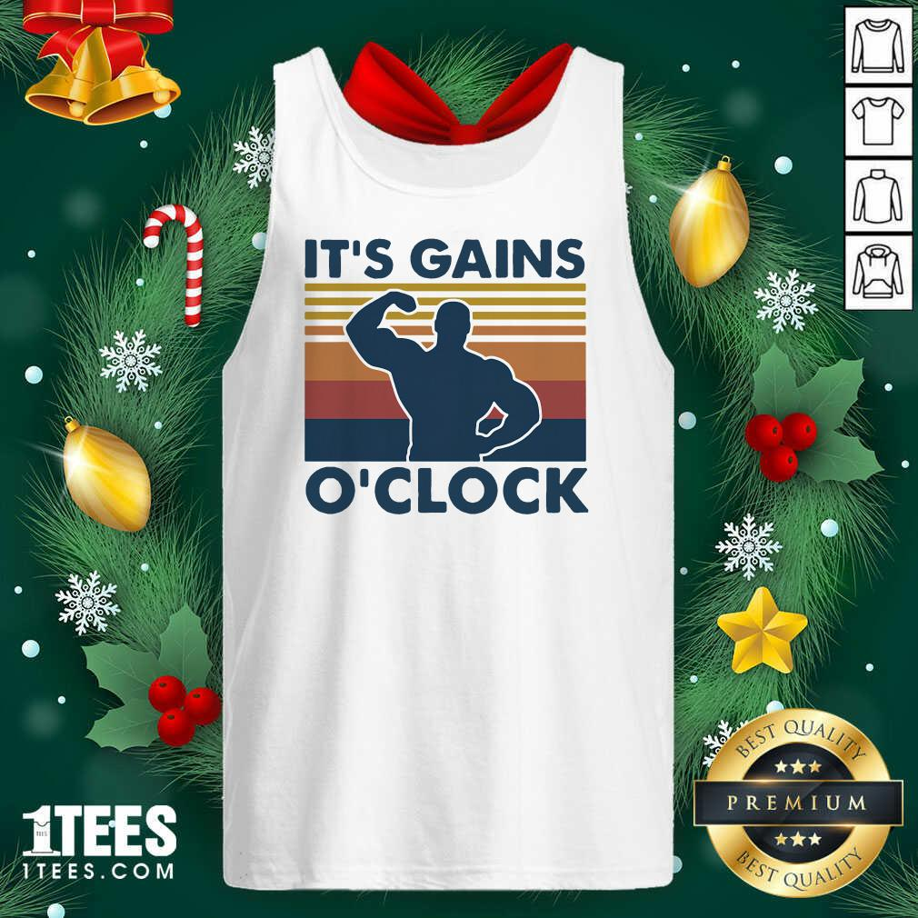 Lifting Its Gains O'clock Vintage Tank Top- Design By 1tees.com