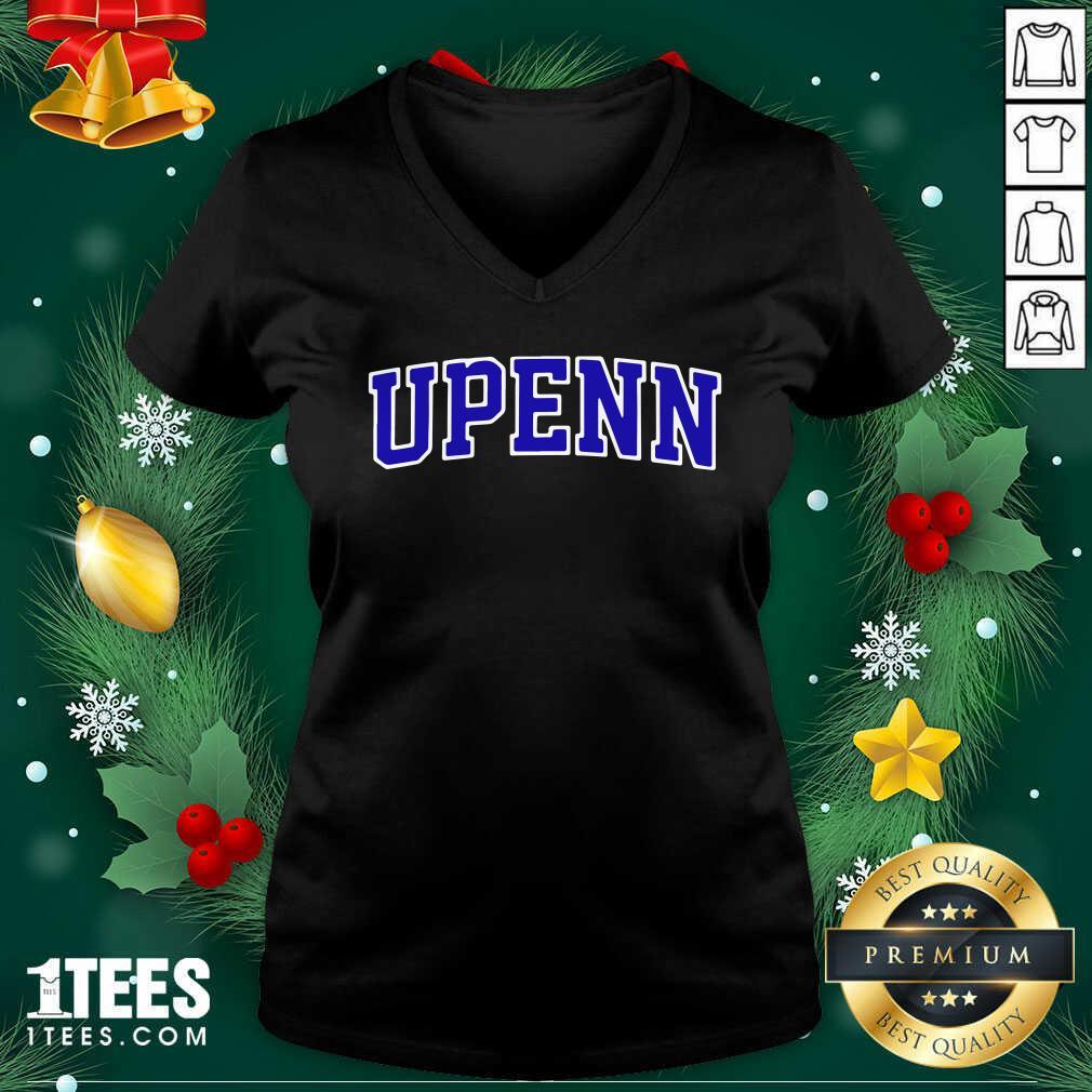 University Of Upenn V-neck- Design By 1tees.com