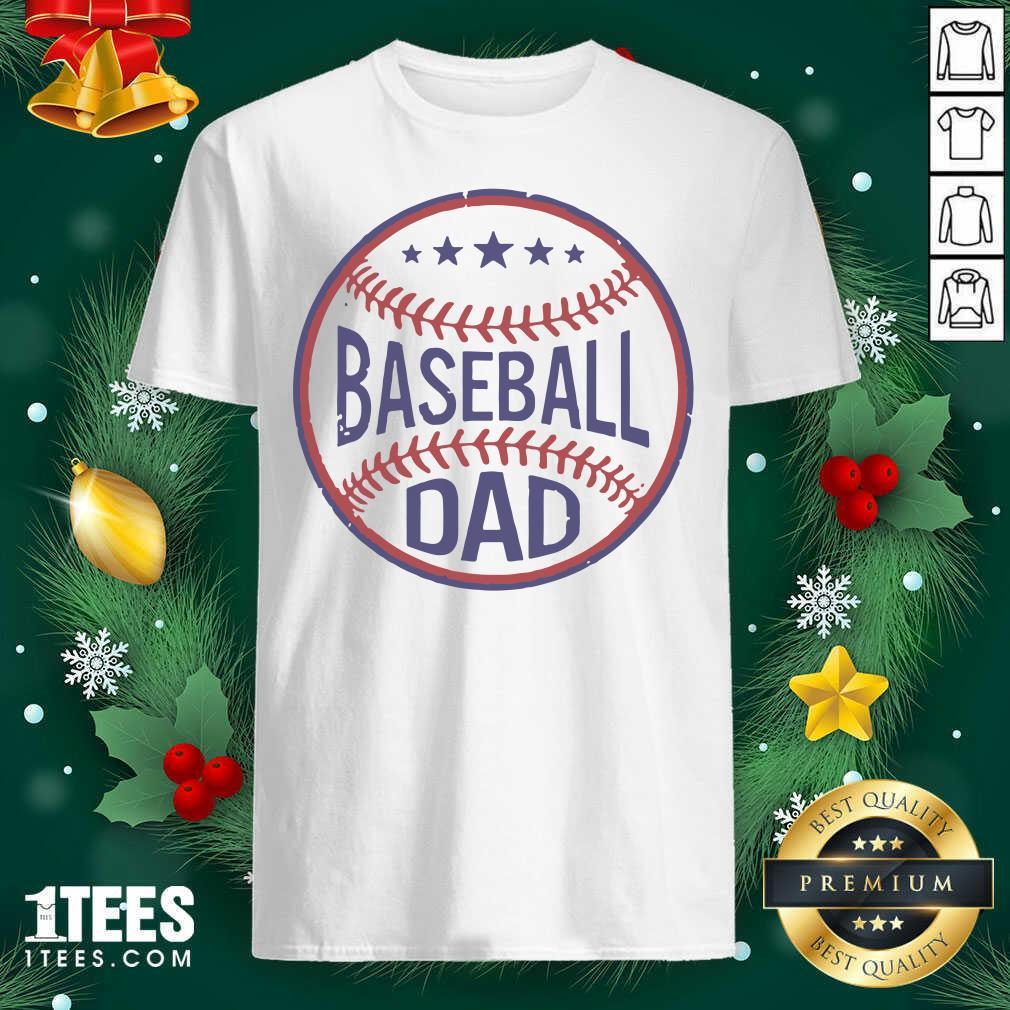 Baseball Dad Player Son Fathers Day Husband Daddy Grandpa Shirt- Design By 1Tees.com