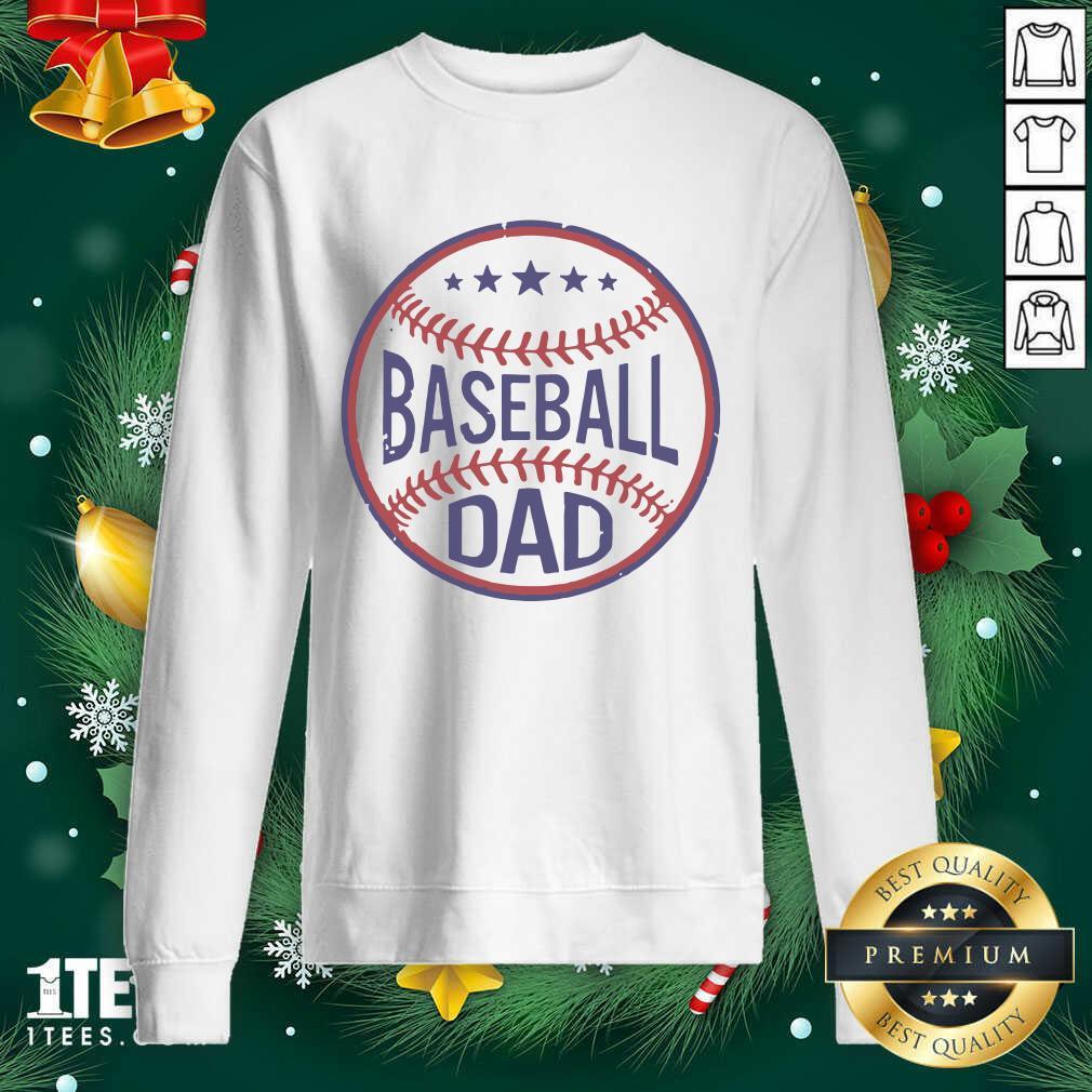 Baseball Dad Player Son Fathers Day Husband Daddy Grandpa Sweatshirt- Design By 1Tees.com
