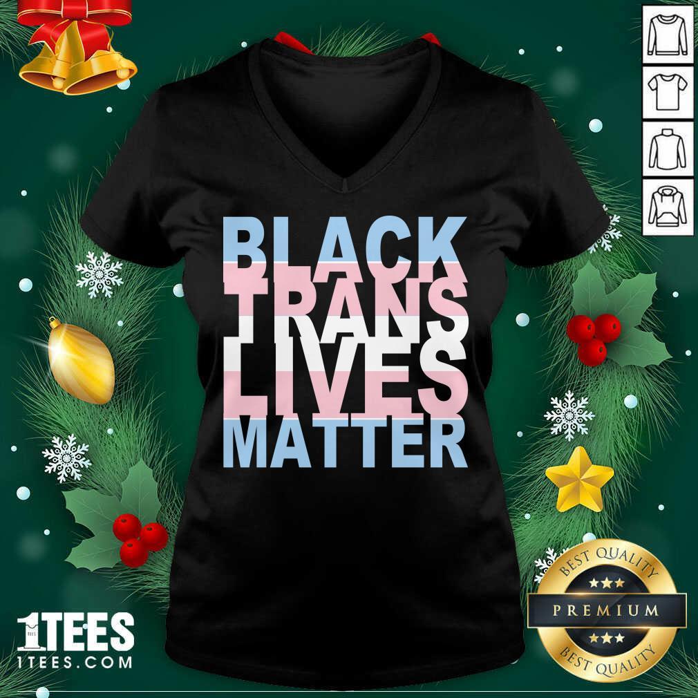 Black Trans Lives Matter V-neck- Design By 1tees.com