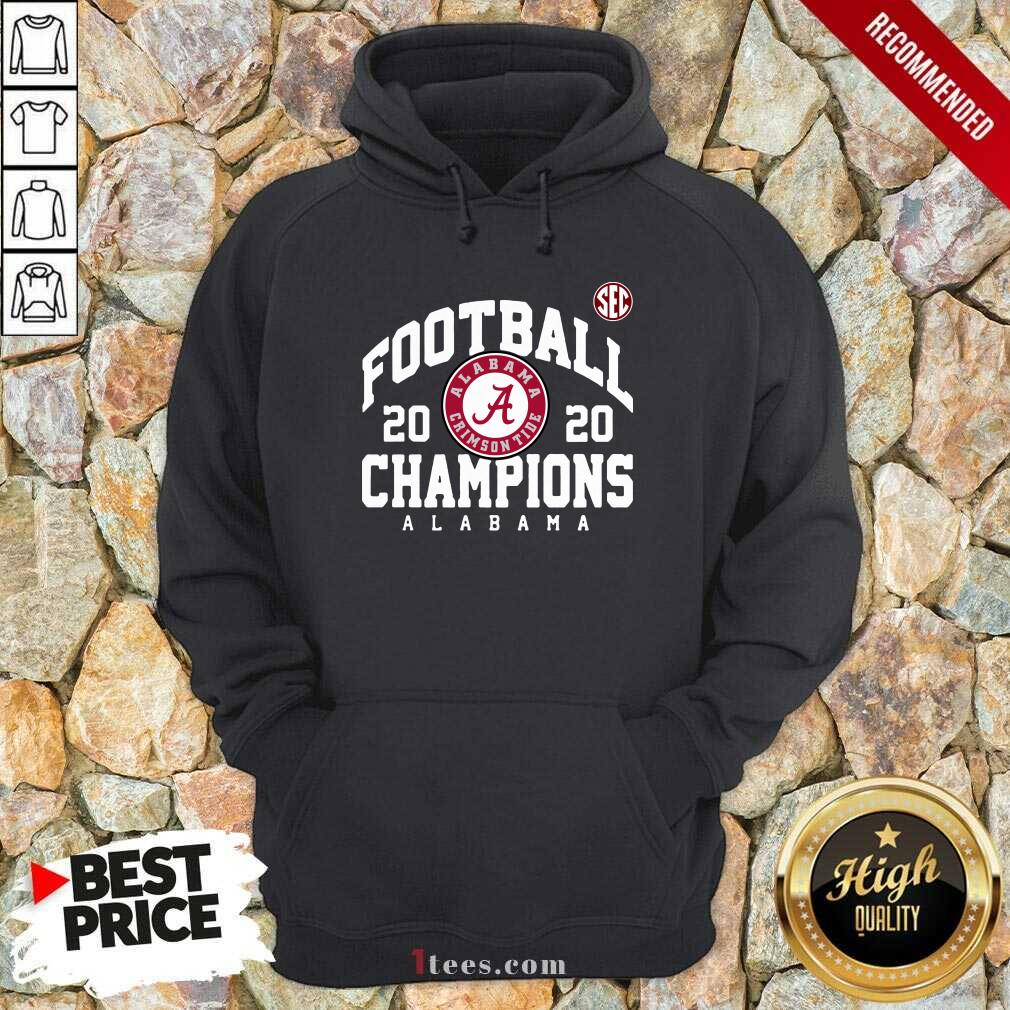 Crimson Alabama Crimson Tide 2020 Sec Football Champions Hoodie- Design By 1tees.com