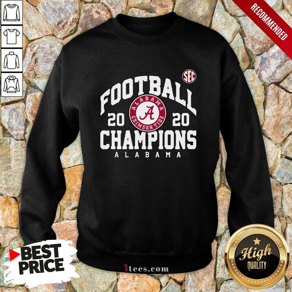 Crimson Alabama Crimson Tide 2020 Sec Football Champions Sweatshirt- Design By 1Tees.com