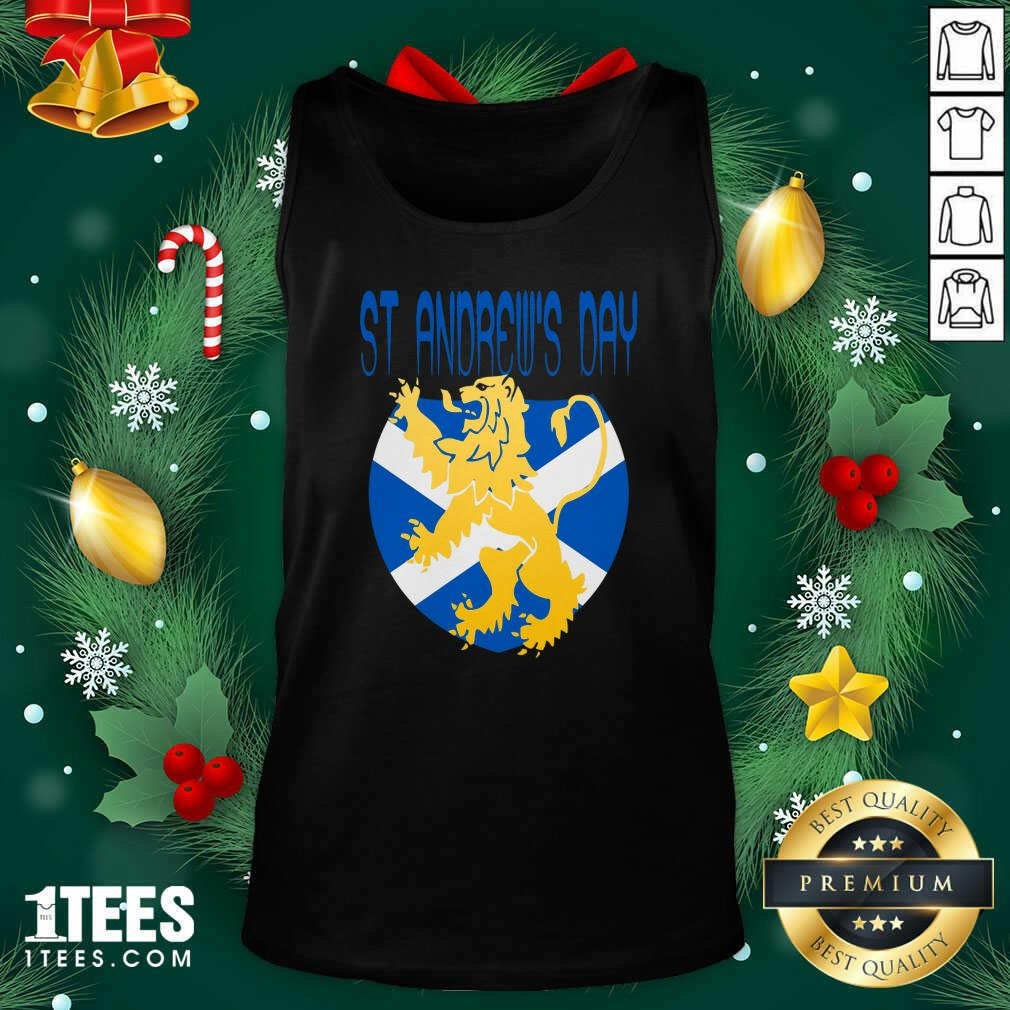 Happy St Andrews Day Tank Top- Design By 1Tees.com