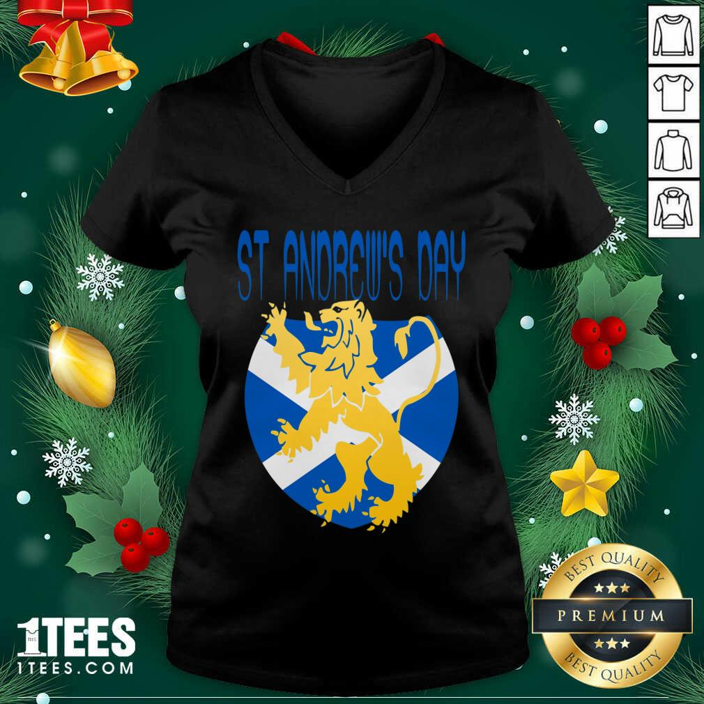 Happy St Andrews Day V-neck- Design By 1Tees.com