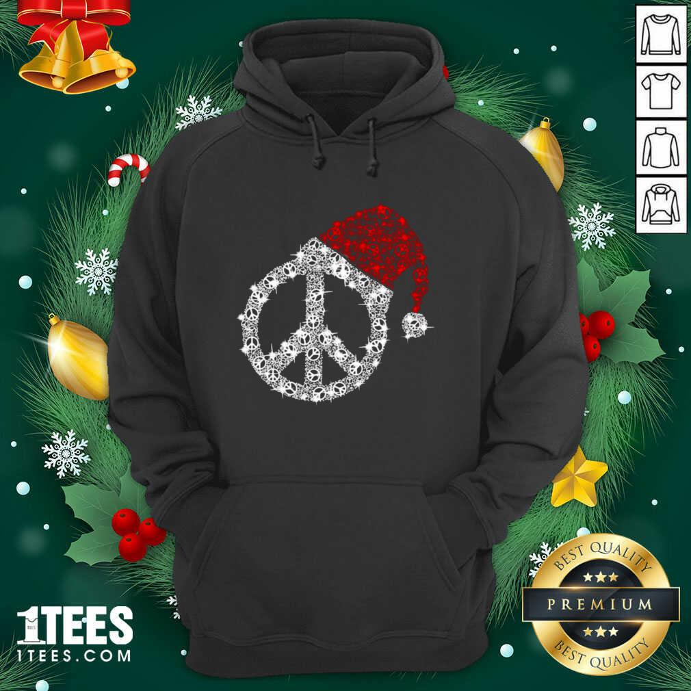 Hippie Diamond Hat Merry Christmas Hoodie- Design By 1Tees.com