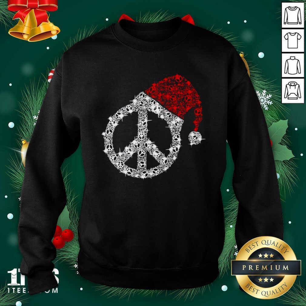 Hippie Diamond Hat Merry Christmas Sweatshirt- Design By 1tees.com