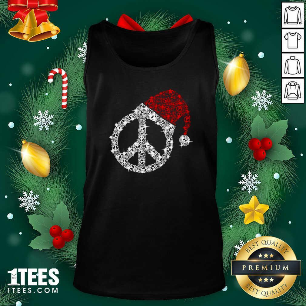Hippie Diamond Hat Merry Christmas Tank Top- Design By 1tees.com