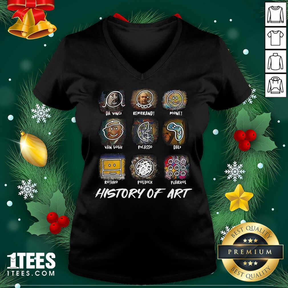 A Vinci Rembrandt Monej Van Gogh Picasso Dali History Of Art V-neck- Design By 1Tees.com