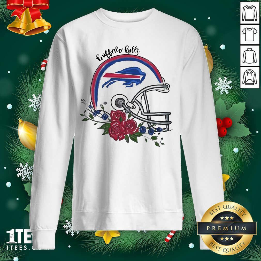 Buffalo Bills Floral Sweatshirt- Design By 1tees.com