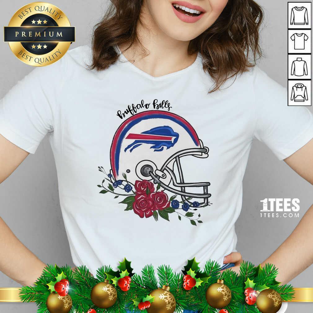 Buffalo Bills Floral V-neck- Design By 1tees.com