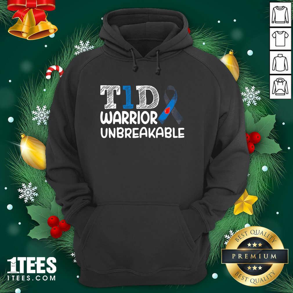 Diabetes T1D Warrior Unbreakable Hoodie- Design By 1Tees.com