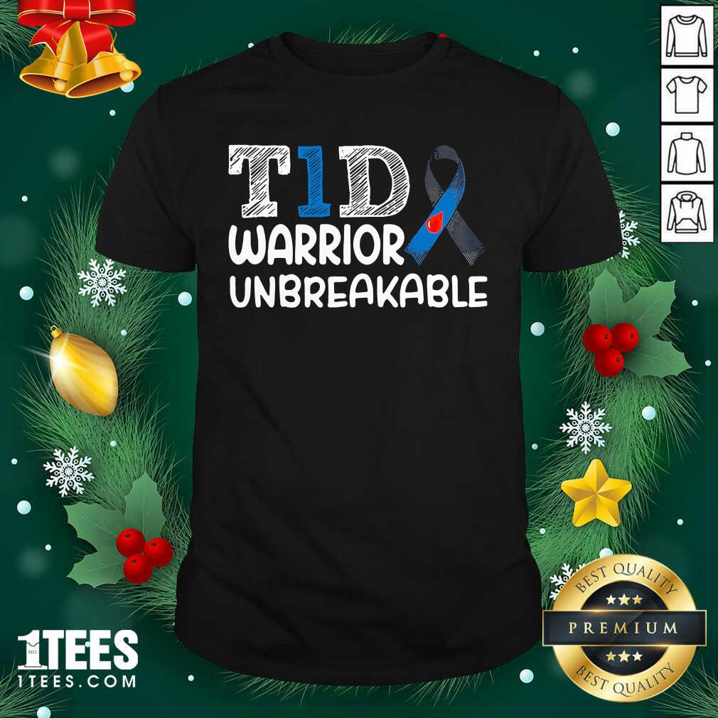 Diabetes T1D Warrior Unbreakable Shirt- Design By 1Tees.com