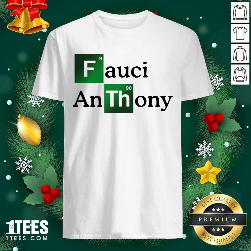 Fauci Anthony We Trust In Science Chemistry Wear A Mask Not Morons Shirt- Design By 1tees.com