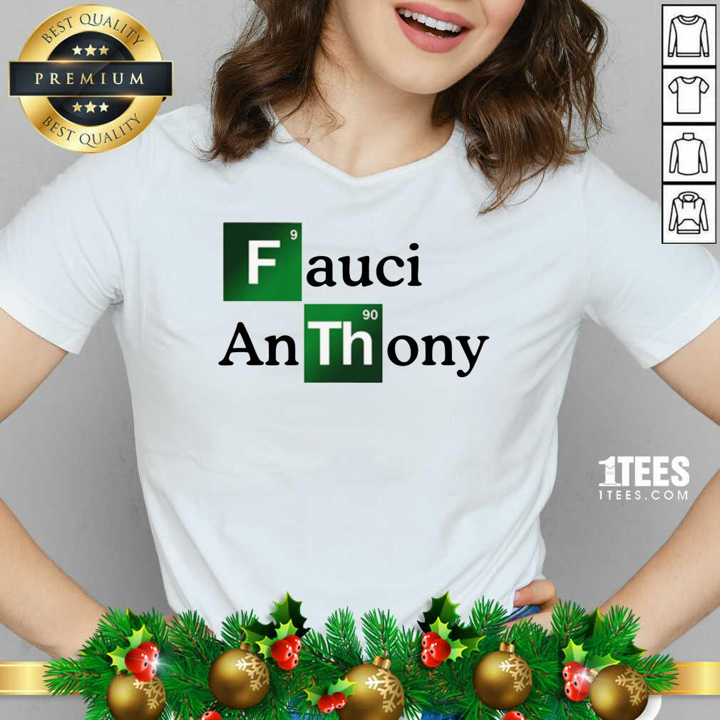 Fauci Anthony We Trust In Science Chemistry Wear A Mask Not Morons V-neck- Design By 1tees.com