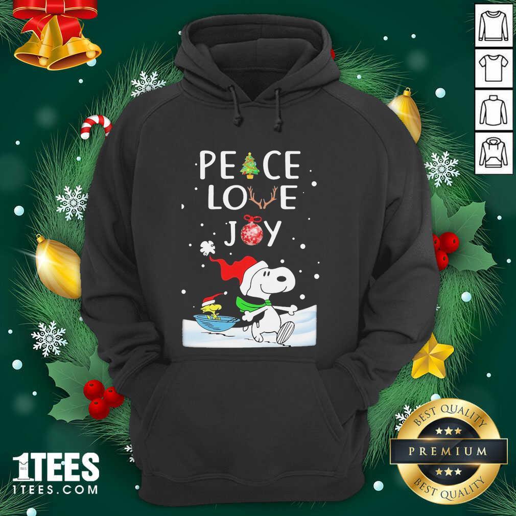 Snoopy Peace Love Joy Christmas Hoodie- Design By 1tees.com