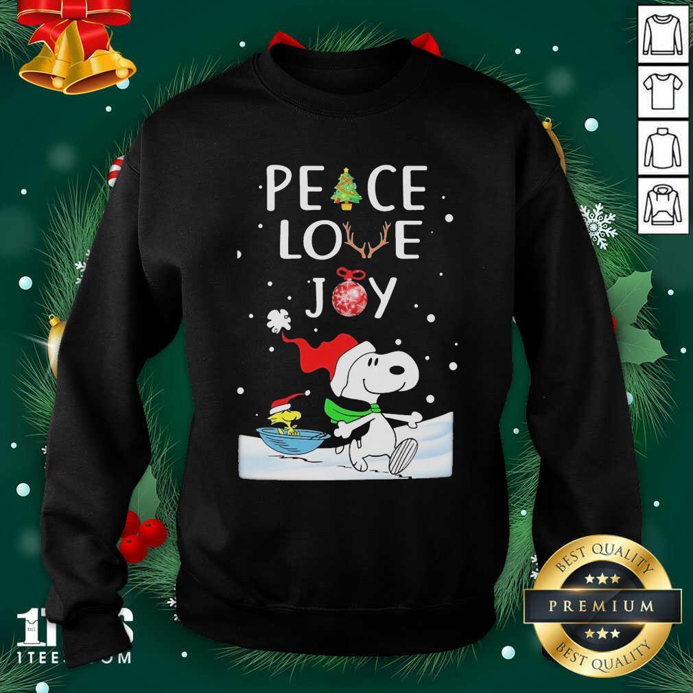 Snoopy Peace Love Joy Christmas Sweatshirt- Design By 1tees.com