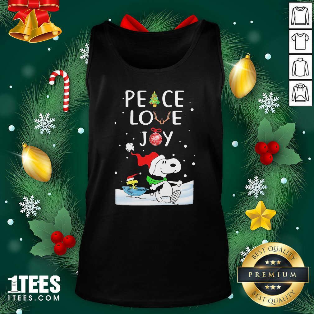 Snoopy Peace Love Joy Christmas Tank Top- Design By 1tees.com