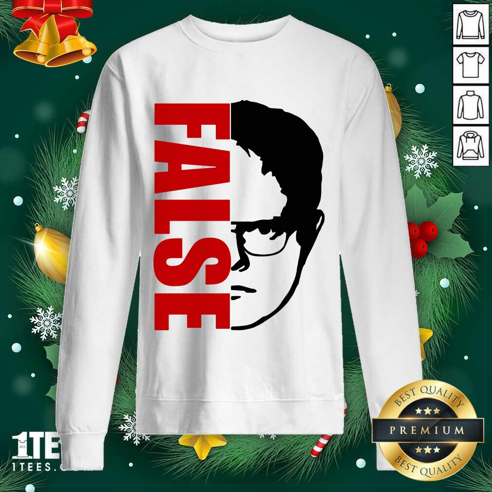 The Office Dwight Schrute False Sweatshirt- Design By 1Tees.com