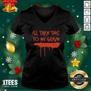 Motionless In White Merch I'll Take This To My Grave V-neck- Design By 1tees.com
