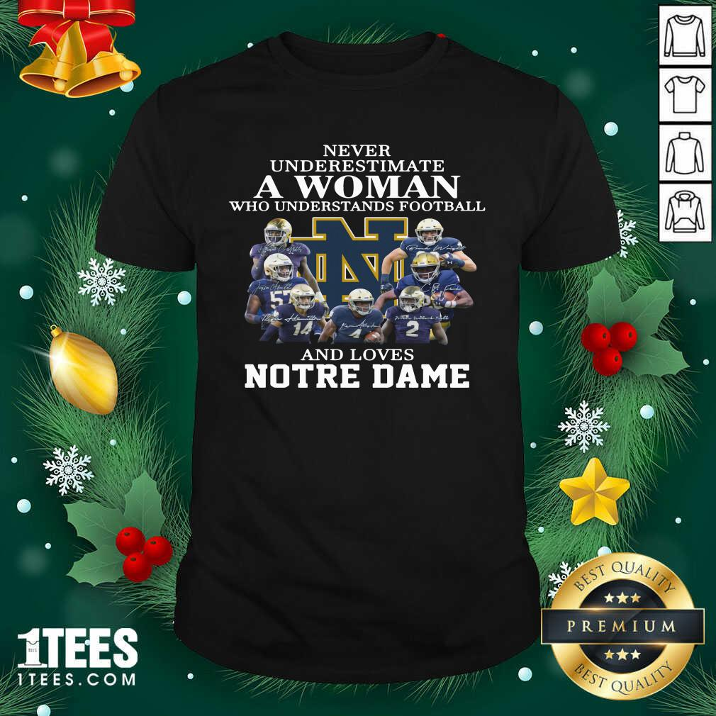 Never Underestimate Who Understands Football And Love Notre Dame Shirt- Design By 1tees.com