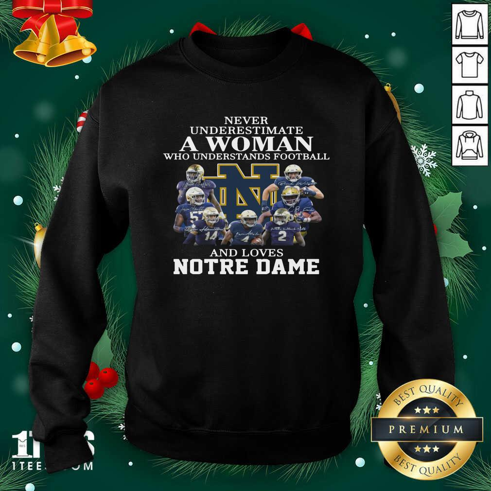 Never Underestimate Who Understands Football And Love Notre Dame Sweatshirt- Design By 1tees.com