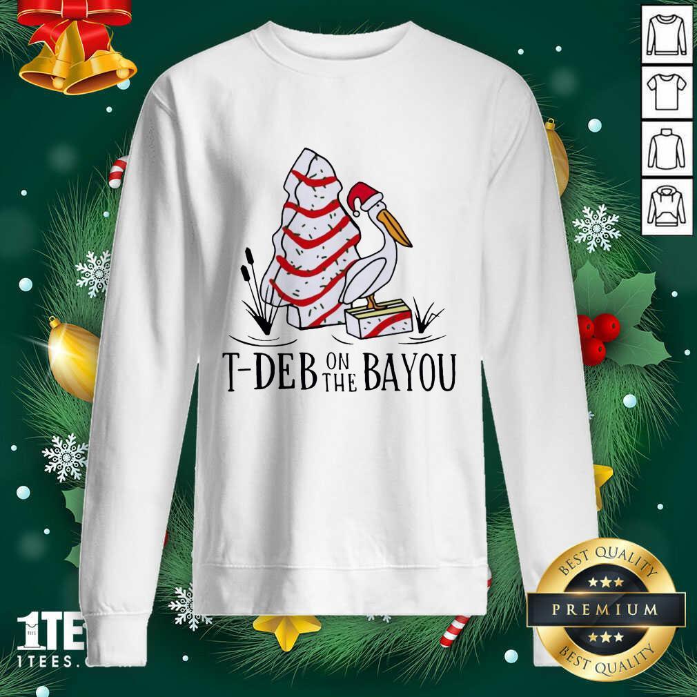 Santa Pelecanus T Deb On The Bayou Christmas Sweatshirt- Design By 1Tees.com