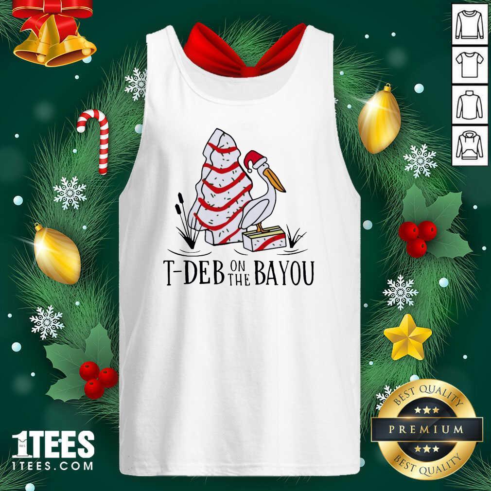 Santa Pelecanus T Deb On The Bayou Christmas Tank Top- Design By 1Tees.com