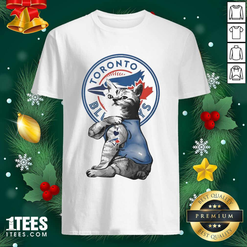Tattoo Cat I love Toronto Blue Rays shirt- Design By 1tees.com