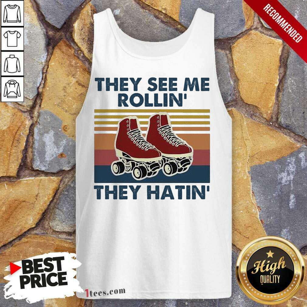 \They See Me Rollin' They Hatin Shose Vintage Tank Top- Design By 1Tees.com